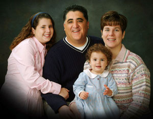 Anthony Portantino with his family.  Publicity picture 2007