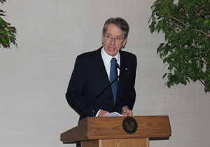 Amb Terzi at openig of Antico exhibit