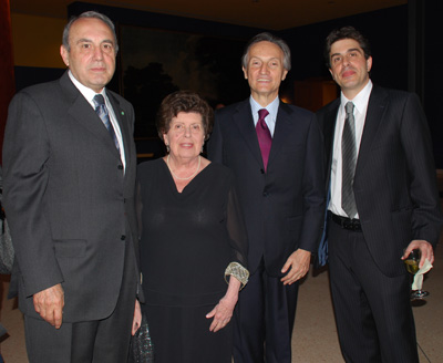 Sebastian Rotella, family, and Amb Claudio Bisogniero